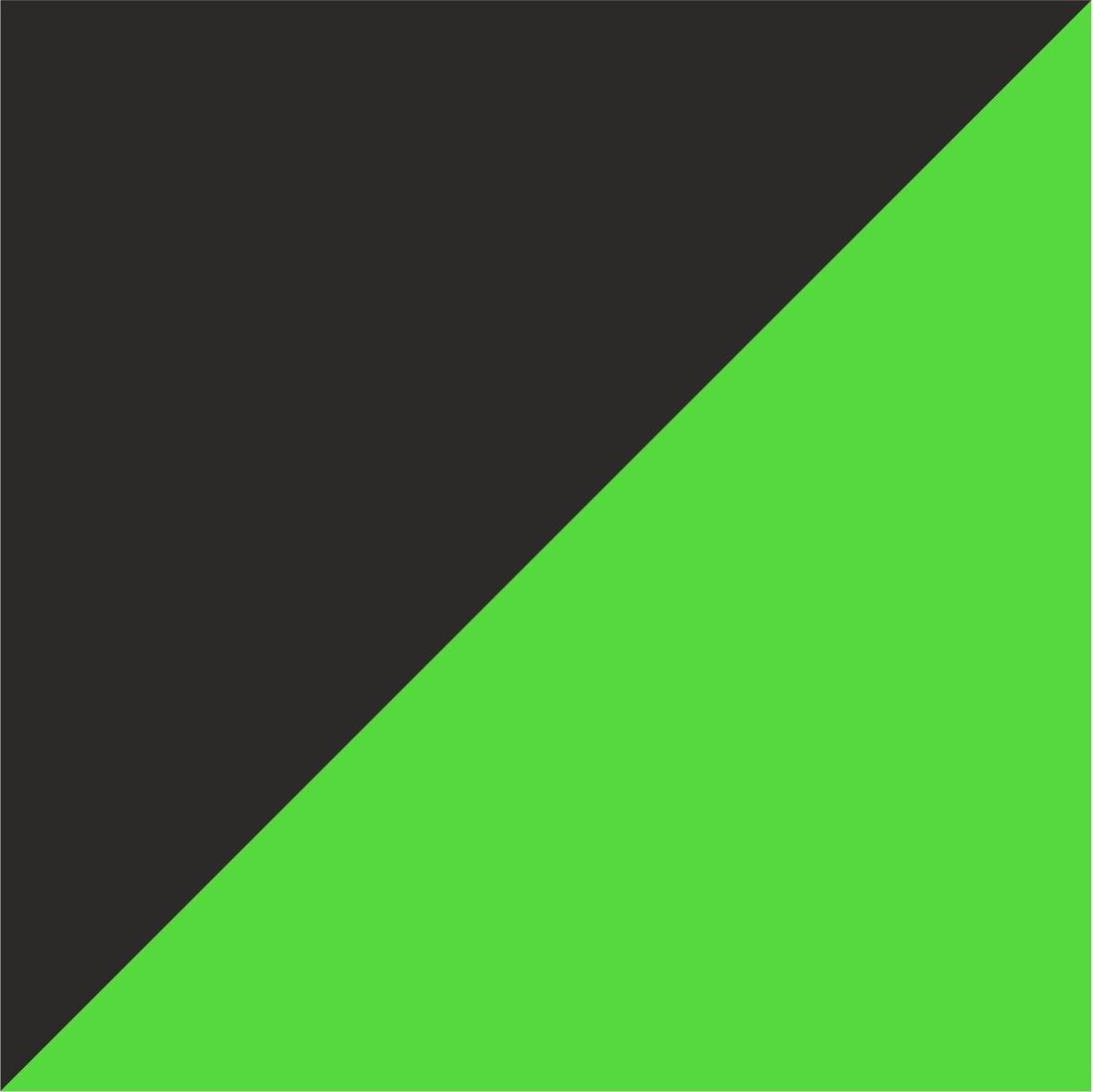 czarno-zielony neonowy